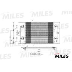 Конденсер RENAULT LOGAN 1.4-1.6/1.5TD 04- (Miles) ACCB001