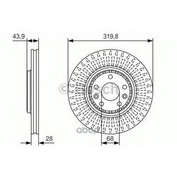 Тормозной диск (Bosch) 0986479S94