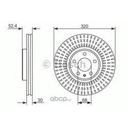 Тормозной диск (Bosch) 0986479753