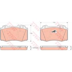 Колодки тормозные передние (TRW/Lucas) GDB1454