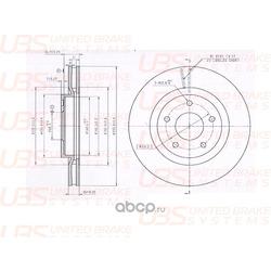 Тормозной диск (UBS) BP2105002