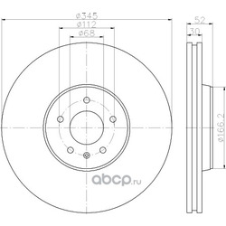 Тормозной диск (Hella) 8DD355117181