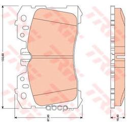 Колодки тормозные передние (TRW/Lucas) GDB3473