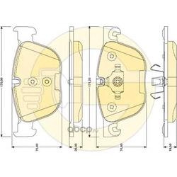 Комплект тормозных колодок, дисковый тормоз (Girling) 6117262