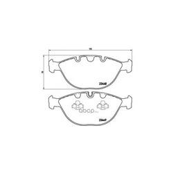 Комплект тормозных колодок, дисковый тормоз (Brembo) P06028