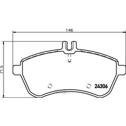 Комплект тормозных колодок, дисковый тормоз (Hella) 8DB355012581