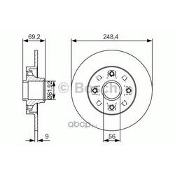 Тормозной диск (Bosch) 0986479S43