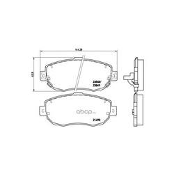Колодки тормозные дисковые передние, комплект (Brembo) P83037
