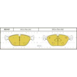 Колодки тормозные дисковые (Blitz) BB0440P