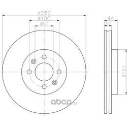 Тормозной диск (Hella) 8DD355108651