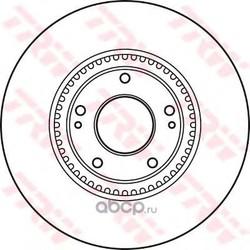 Диск тормозной вентилируемый (TRW/Lucas) DF4957S
