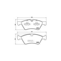 Колодки тормозные дисковые передние, комплект (Brembo) P50063