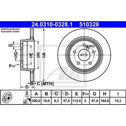 Тормозной диск (Ate) 24031003281