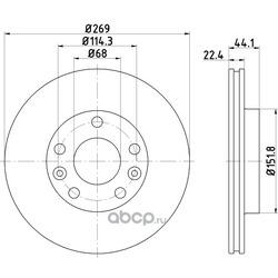 Тормозной диск (Textar) 92272603