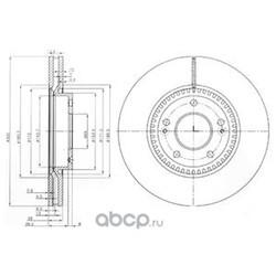 Тормозной диск (Delphi) BG4011