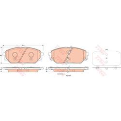 Колодки тормозные передние (TRW/Lucas) GDB3527