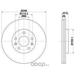 Тормозной диск (Mintex) MDC2196