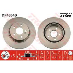 Тормозной диск (TRW/Lucas) DF4864S