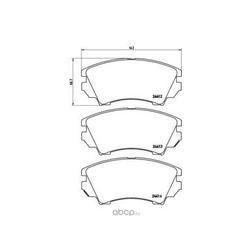 Колодки тормозные дисковые передние, комплект (Brembo) P59055