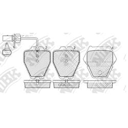 Колодки тормозные дисковые с датчиком износа (NiBK) PN0138W