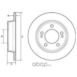 Тормозной диск (Delphi) BG4559