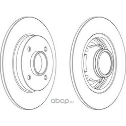 Тормозной диск (Ferodo) DDF1564