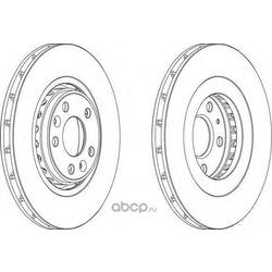 Тормозной диск (Ferodo) DDF1727