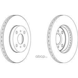 Тормозной диск (Ferodo) DDF1149