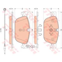 Комплект тормозных колодок, дисковый тормоз (TRW/Lucas) GDB1889