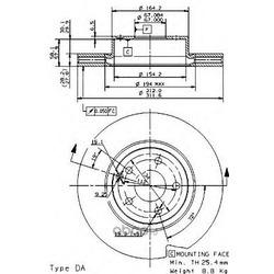 Тормозной диск (Brembo) 09948111