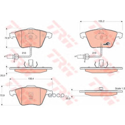 Комплект тормозных колодок, дисковый тормоз (TRW/Lucas) GDB1528