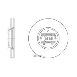 Диск тормозной передний (Sangsin brake) SD1053