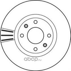 Тормозной диск (Jurid) 562129JC