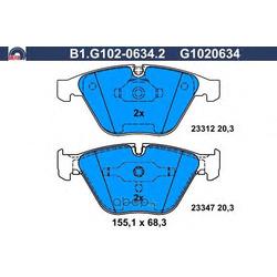 Комплект тормозных колодок (GALFER) B1G10206342