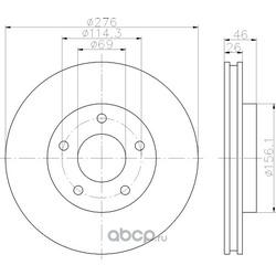Тормозной диск (Hella) 8DD355116241