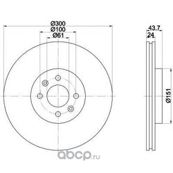 Тормозной диск (Textar) 92149503
