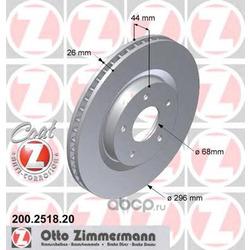 """Диск тормозной вентилируемый, """"Coat Z (Zimmermann) 200251820"""
