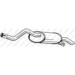 Глушитель выхлопных газов конечный (Bosal) 278423