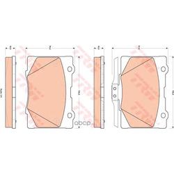 Комплект тормозных колодок, дисковый тормоз (TRW/Lucas) GDB3498