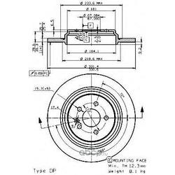 Тормозной диск (Brembo) 08760711
