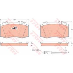 """Колодки тормозные дисковые, комплект """"COTEC (TRW/Lucas) GDB1543"""
