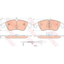 Комплект тормозных колодок, дисковый тормоз (TRW/Lucas) GDB1908
