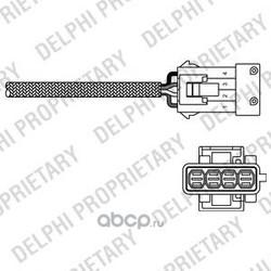 Датчик кислородный верхний (Delphi) ES1079712B1