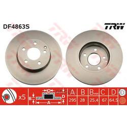 Тормозной диск (TRW/Lucas) DF4863S