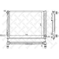 Радиатор (Stellox) 1025125SX