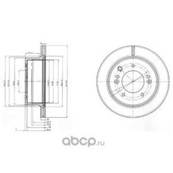 Тормозной диск (Delphi) BG3859