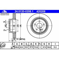 Тормозной диск (Ate) 24012002081