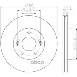 Тормозной диск (Hella) 8DD355118371