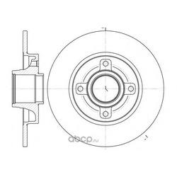 Тормозной диск (Remsa) 6101400