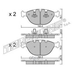 Комплект тормозных колодок, дисковый тормоз (Trusting) 7870
